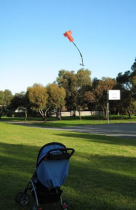 Kite Blog - the original 2-Skewer Sode kite in very light wind.