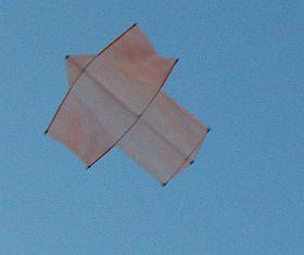 MBK Dowel Sode kite in flight.