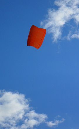 2-Skewer Sled kite MkII in flight.