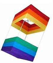 A modern retail version of a traditional square 2-cell box kite