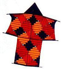 A very artistic Sode kite.