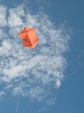 Learn how to build a Rokkaku kite like this one.