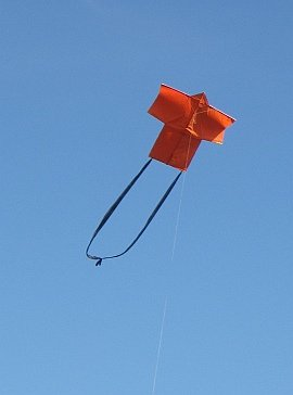 Learn how to build a Rokkaku kite like this one.
