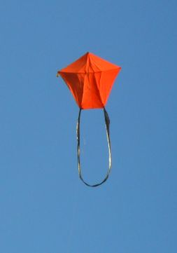 3-Skewer A-Frame Kite in flight.