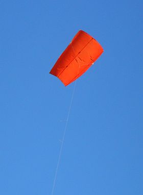 3-Skewer Sled Kite - flying on a 'blue thermal' day.