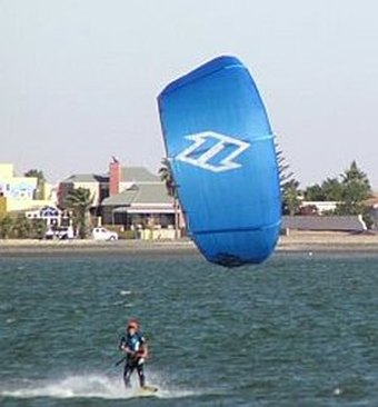 An example of surfing kites is this LEI kite in action.
