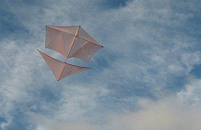The Dowel Roller is a fine looking light-wind kite!