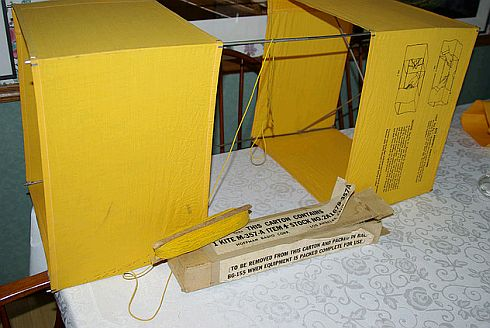 An original example of a Gibson Girl box kite from WWII.