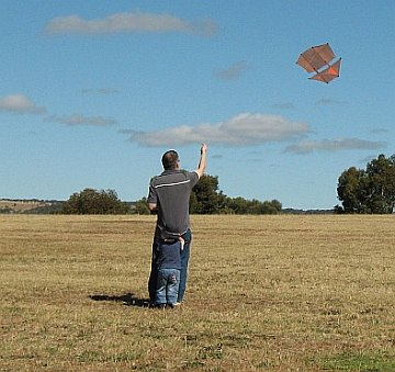Tim flying the 2-Skewer Dopero.