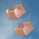 The MBK Dowel Box kite (moderate winds).