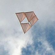 The MBK Skewer Tetrahedral kite.