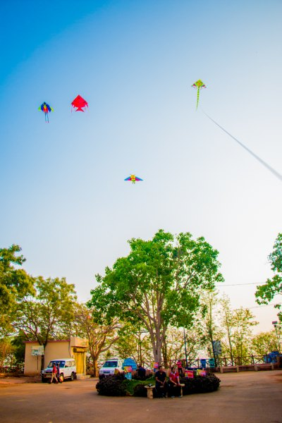 Kites at a Fly360 event in India.