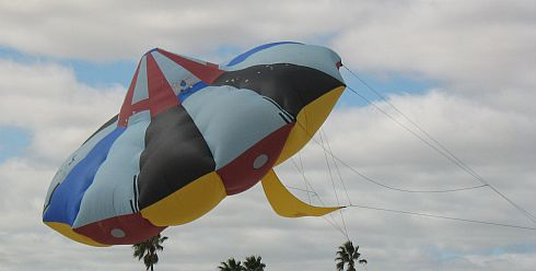 This giant UFO kite has often made an appearance at this event.