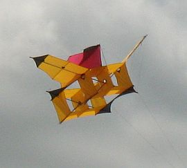 Big orange Cody War Kite replica.