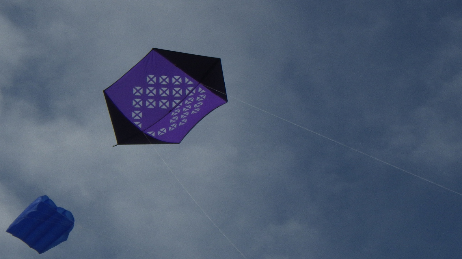 AIKF 2017. A very neatly constructed and decorated Rokkaku kite.