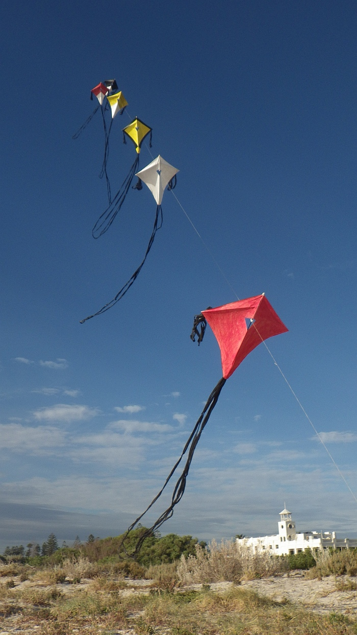 AIKF 2017. A train of MBK Multi-Fly Diamond kites.
