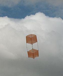 Box Kite Design - the 2-Skewer box kite in flight