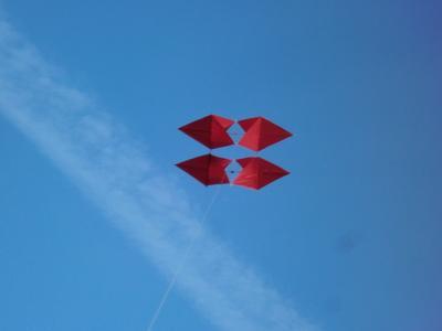 P.L. Box kite at 100 feet