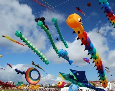Large inflatables at the Bristol International Kite Festival some years ago.