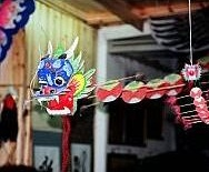 Chinese Kites - small traditional centipede-style Dragon kite