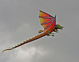 Cool can also mean super-artistry, as with this Dragon kite.