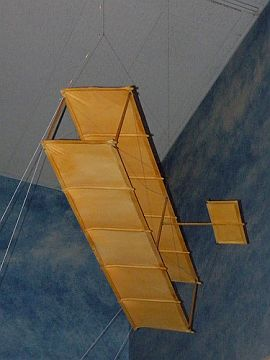 A replica of a Wright Brothers kite.