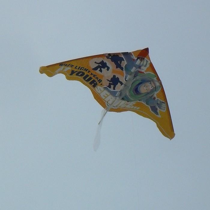 Delta kite featuring Buzz Lightyear!