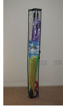 Stunt kite in its original package.