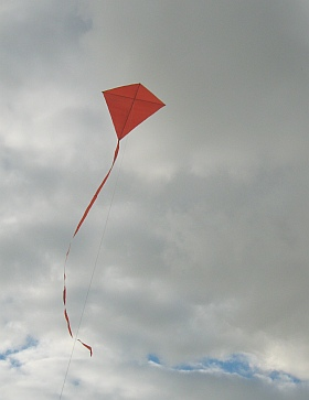 Simple Diamond kites like this one are quick and easy to make.