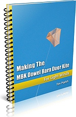 Kite Book - making the MBK Dowel Barn Door Kite.