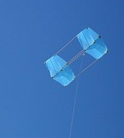 The MBK Dowel Box kite (moderate to fresh winds).