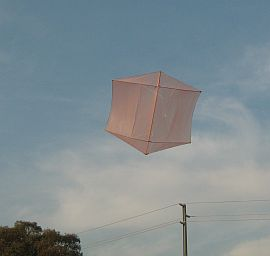 First test flight for the Dowel Rokkaku kite.