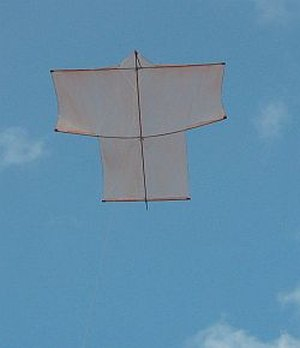MBK Dowel Sode kite in flight.