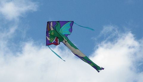 Kids delta-style Dragon in flight