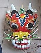 Ornate head of a Chinese Dragon kite.
