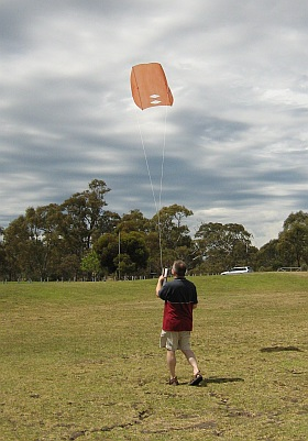 Simple sleds are very easy kites to set up!