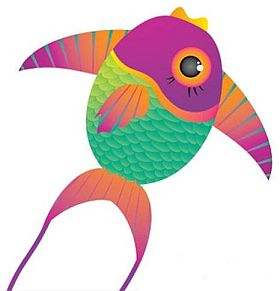 Sometimes large fish fins double as the sail, or part of it, on some kites for kids.