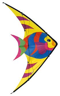 There's even a stunt kite with a distinctly fishy appearance.