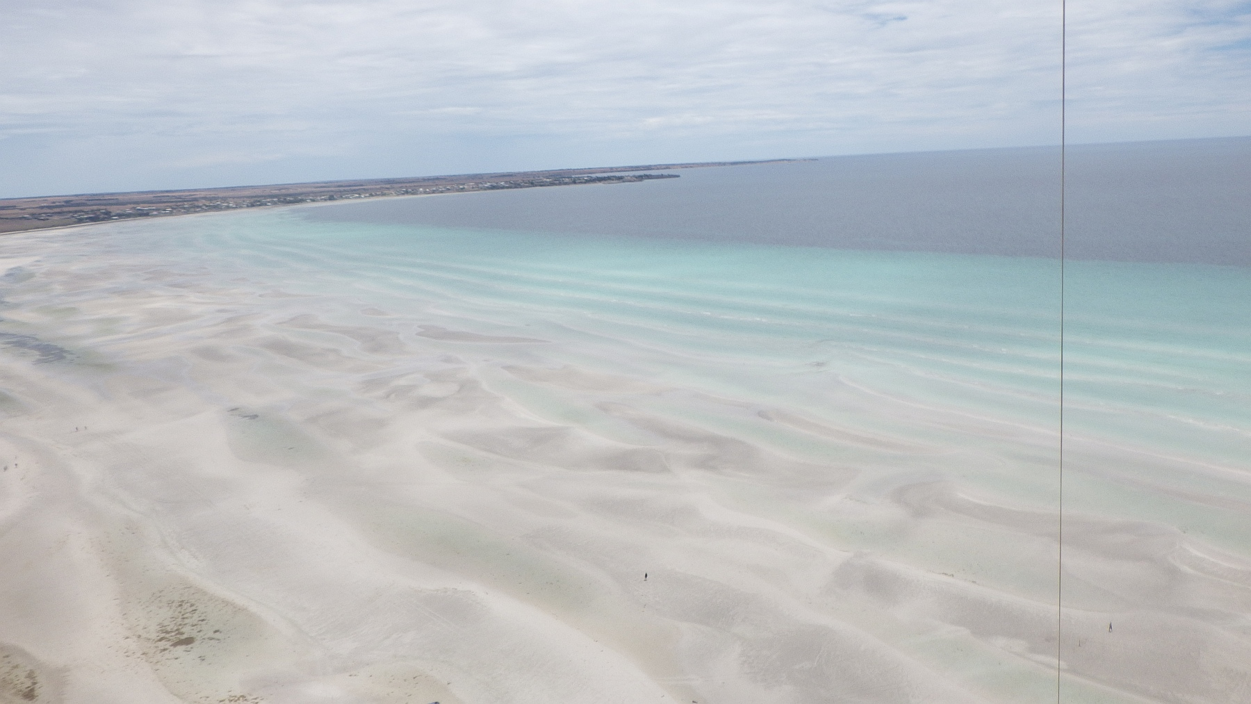 Kite's eye view from over Flaherty's Beach in South Australia.
