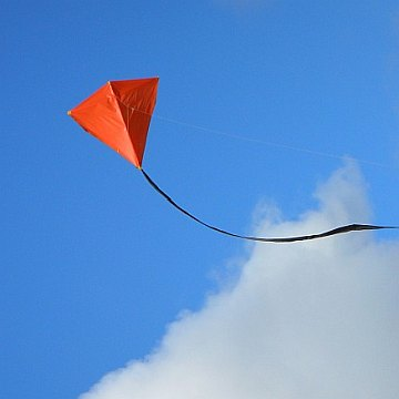 The MBK 2-Skewer Diamond kite in flight.