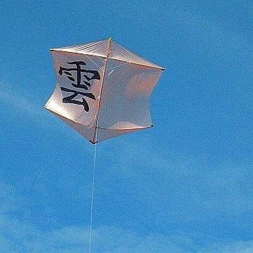 The MBK Dowel Rokkaku in flight.