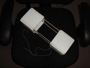 Kite Blog - bamboo skewer and foam box kite.