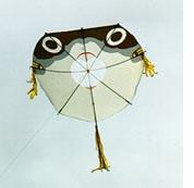 Japanese Fugu or Blowfish kite. Note the 'mouth' in the middle!