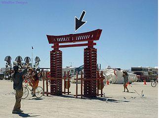 The surrealistic Cursor kite.