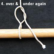 Tying the Half Hitch knot - step 4.
