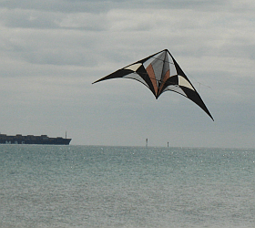 A short history of stunt kites, showing where the modern dual line Delta came from.