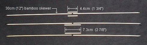 The 2-Skewer Barn Door - lengths of bamboo skewer required.