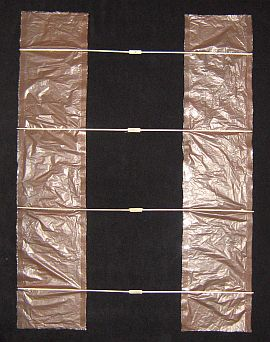 The 2-Skewer Box kite - attaching the spars to the sail