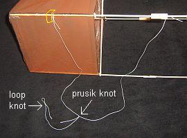 The 2-Skewer Box kite - bridle detail