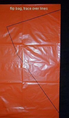 The 2-Skewer Diamond - bag flipped over and traced